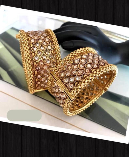 Gold Plated Bangle With Screw