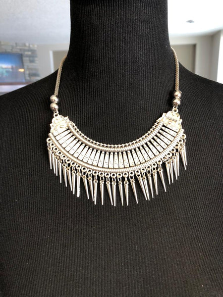 German Silver Necklace with Matching Earrings