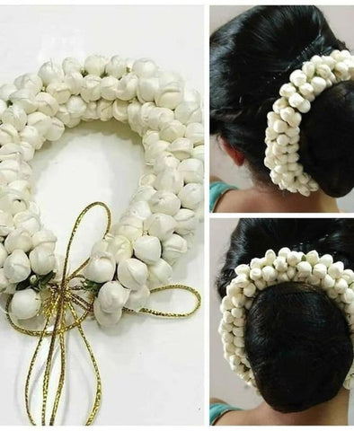 Indian Hair Accessory Indian Gajra-Bun Decoration-Indian Bridal Wedding Hair Accessory-Artificial Flowers for Hair