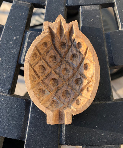 Beautiful Pineapple Wooden Sandesh Chanch Molds