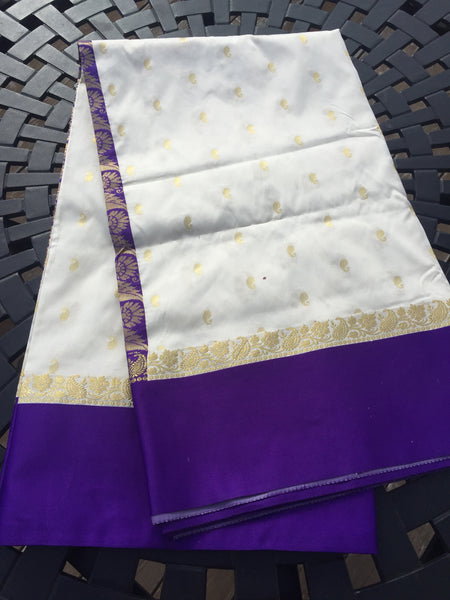 Deep Purple Kanchi Silk Saree