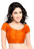 Vamas Orange Brocade Front Open Blouse