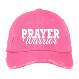 Prayer Warrior Distressed Hat