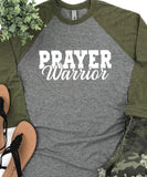 Prayer Warrior Raglan Baseball Tee