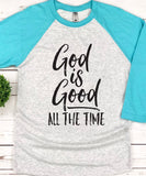 God is Good Raglan Baseball Tee