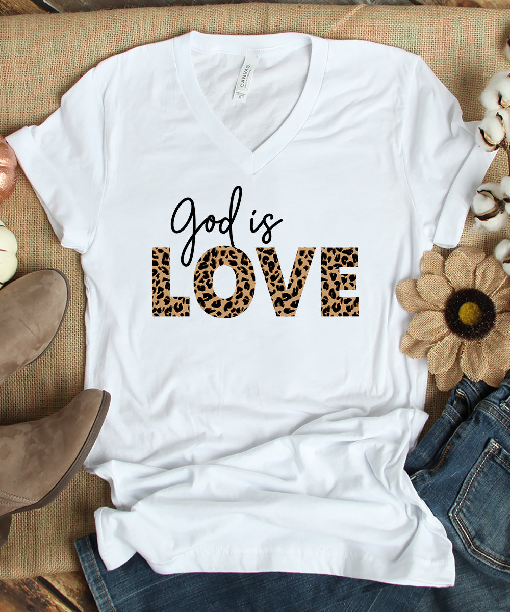 God is Love V-Neck