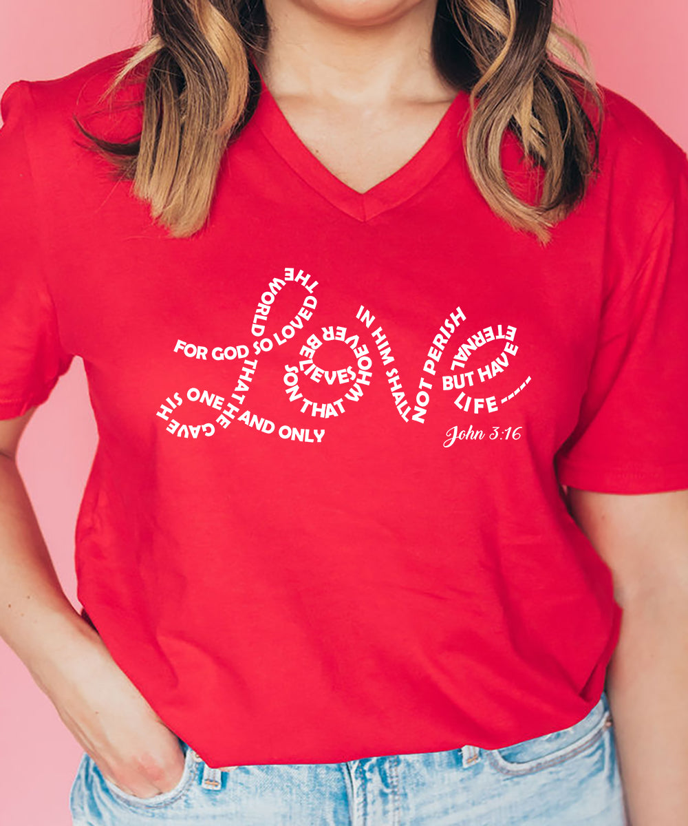 Love. John 3:16 Relax Fit V-Neck