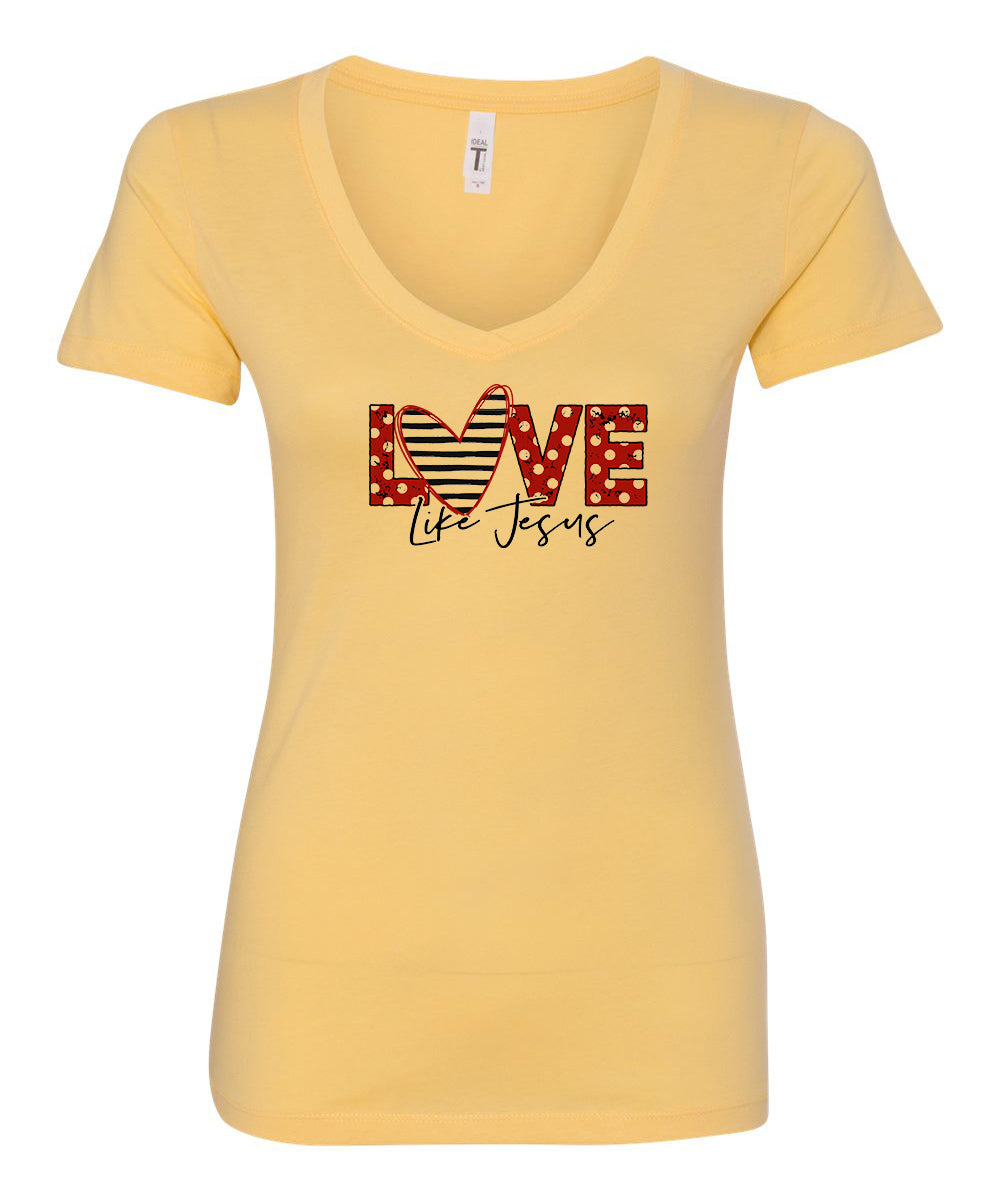 Love Like Jesus (Polka Dot) V-Neck