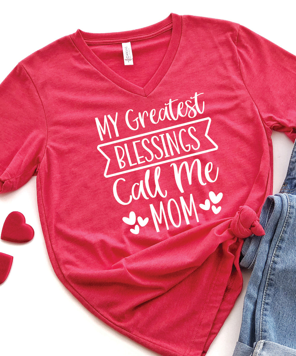 My Greatest Blessings Relax Fit V-Neck