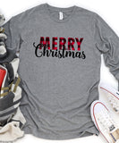 Plaid Merry Christmas Long Sleeve
