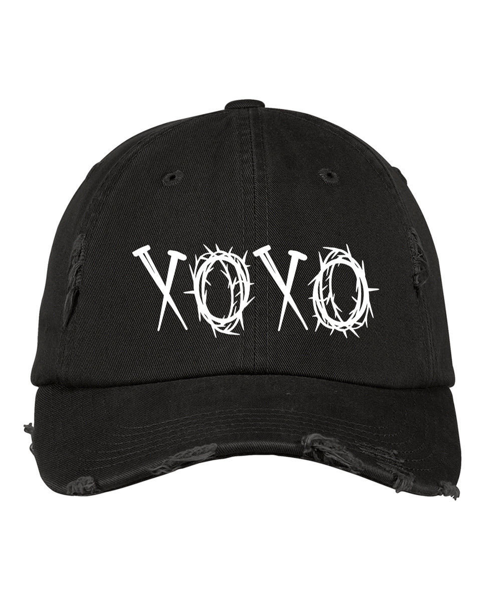 XOXO Distressed Hat