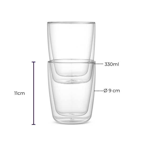 Glas Kaffeebecher to go 340ml