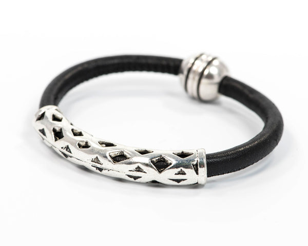 Bar One Leather Bracelet