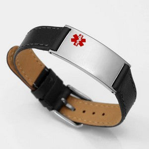 Buckle Up Medical ID Bracelet with Engraving
