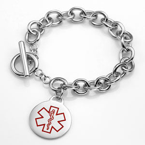 Classic Charm Medical ID Bracelet with Engraving