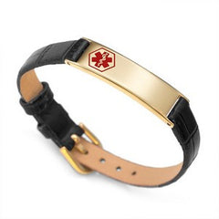 Gold Buckle Up Medical ID Bracelet
