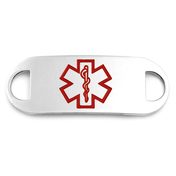 Stainless Steel Medical ID Tag with Large Medical Symbol