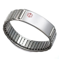 Stainless Stretch Medical ID Bracelet