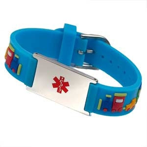 Choo Choo Medical ID Bracelet with Engraving