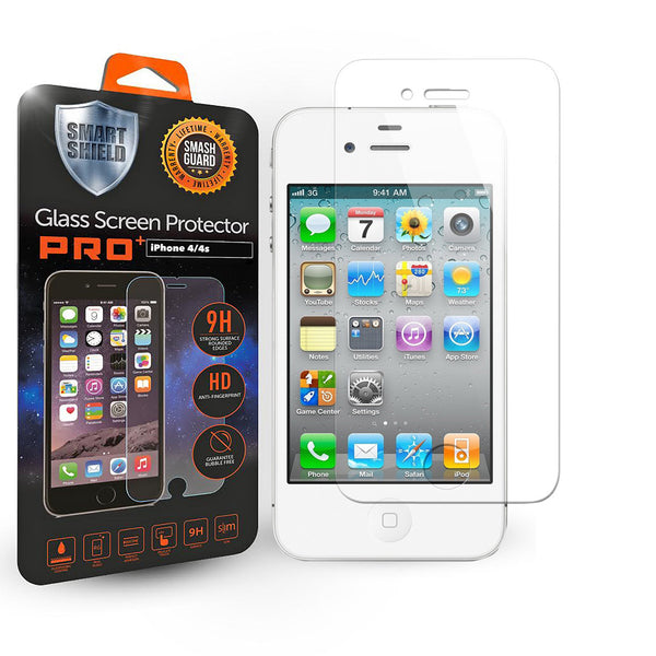 iPhone 4 / 4s Tempered Glass Screen Protector - Smart Shield - 1