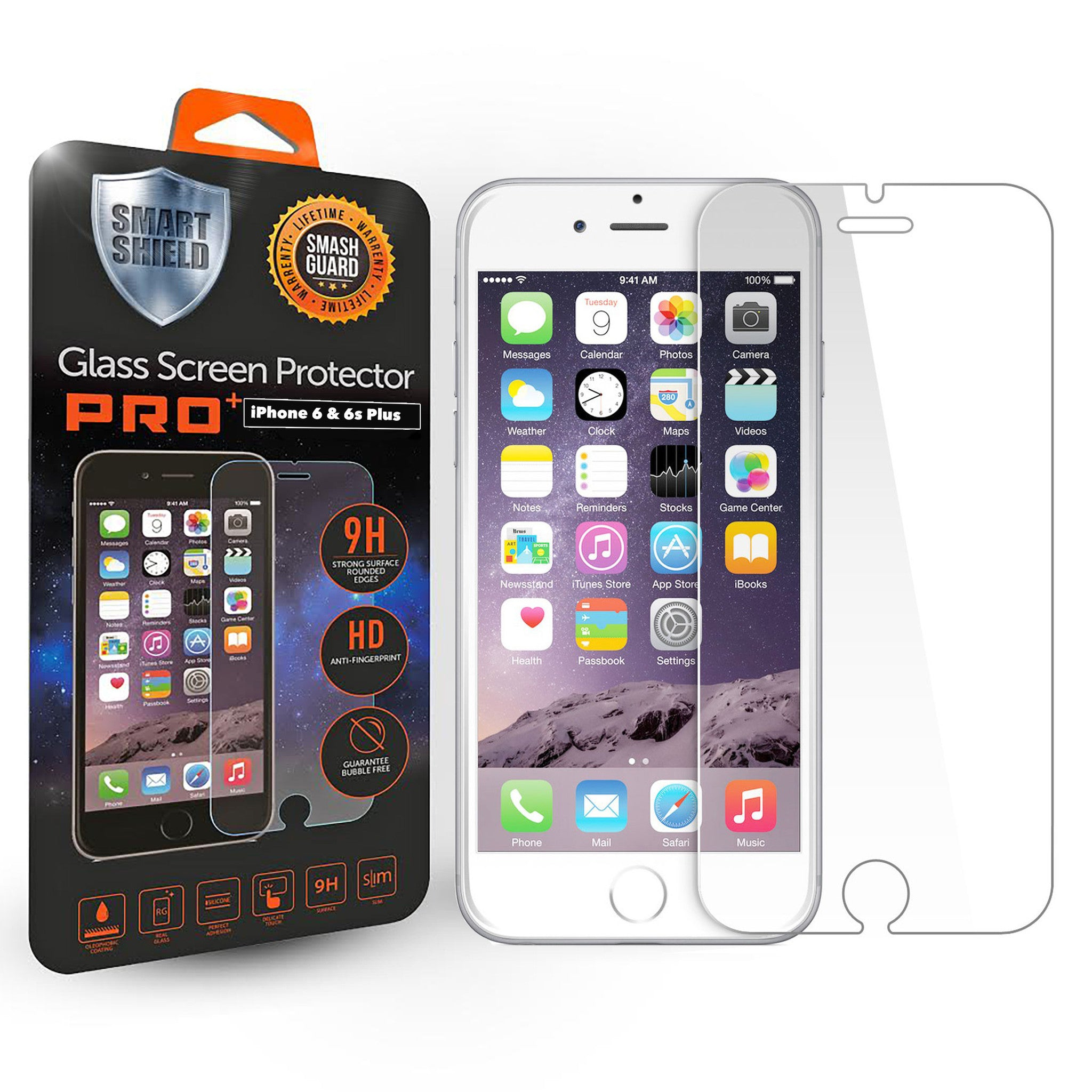 iPhone 6 Plus / 6s Plus Tempered Glass Screen Protector - Smart Shield - 1