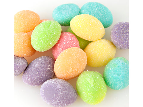 Gummi Sanded Easter Eggs Fruit Flavors bulk gummy Easter Candy 1 pound