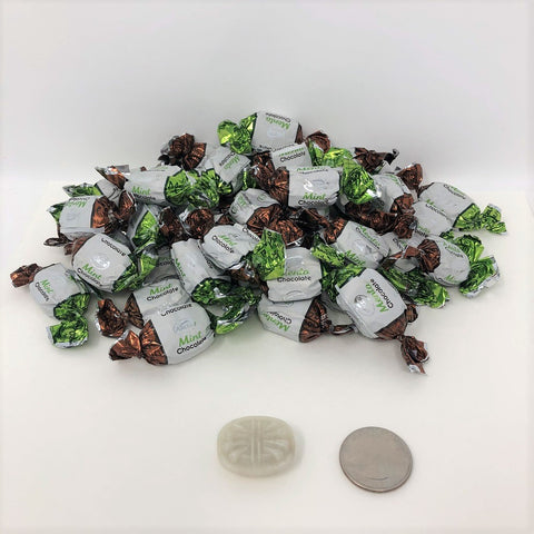 Arcor Mint Chocolate Bon Bons 2 pounds bulk bonbon chocolate mint hard candy