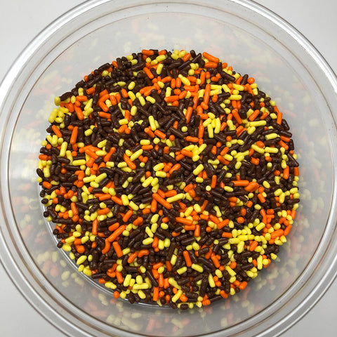 Fall Sprinkles Autumn Mix Jimmies Bakery Topping 6 pound colored sprinkles