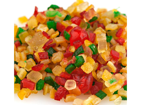 Paradise Diced Fruit Mix Candied Fruit Glaze Special Mello 2 pounds