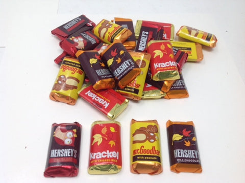 Fall Hershey Miniatures fall theme foil 5 pounds Hershey's Miniatures