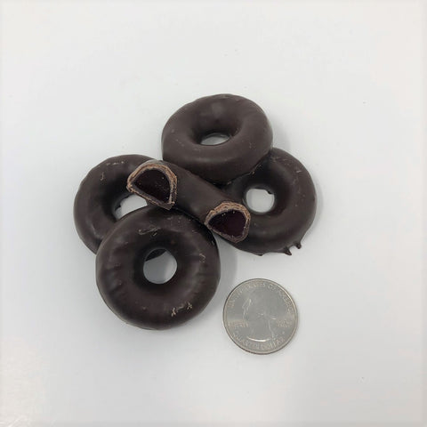 Joyva Chocolate covered Raspberry Jelly Rings 1 pound bulk candy