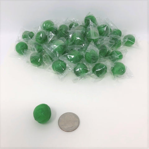 Lime Balls 2 pounds green lime candy wrapped hard candy bulk candy