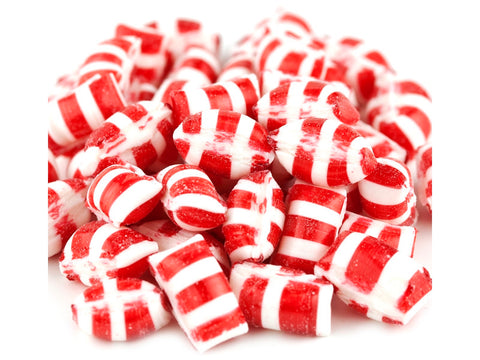 Christmas Peppermint Gems miniature red and white hard candy 5 pounds