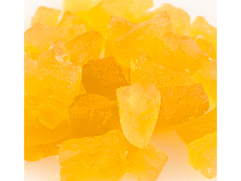 Paradise Natural Pineapple Yellow Wedges Candied Fruit Glaze bulk 10 pound box