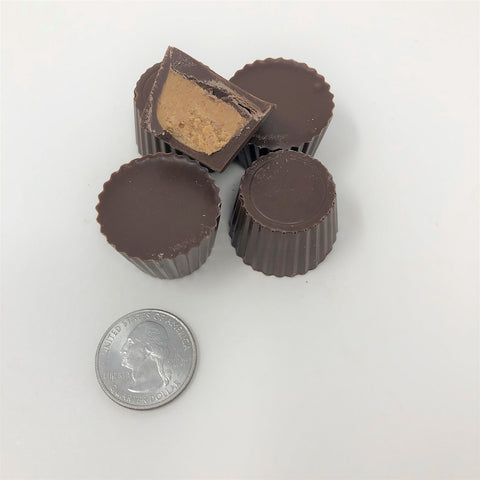 Gourmet Sugar Free Mini Peanut Butter Cups Milk Chocolate Candy 1 pound