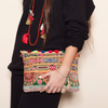 Clutch bag, hand made embroidery, Handbags, Women's purse