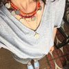 Bib necklace, coins pendants, statement jewellery, boho chic, gypsy soul