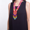 beaded necklace, tribal style jewellery, hand made, statement necklace