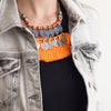 statement necklace, big pendant, ethnic jewellery, big necklace, Women's necklace, Boho style