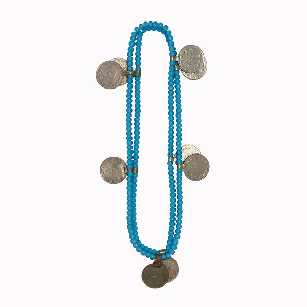 coins necklace, boho necklace, statement necklace, gypse style, boho style, long necklace, pendant necklace, turquoise necklace