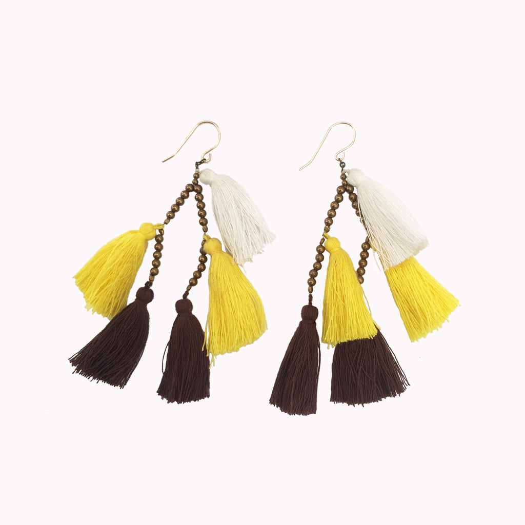 earring, tassel charm, boho jewellery, festival style, tassel earring, women's earrings