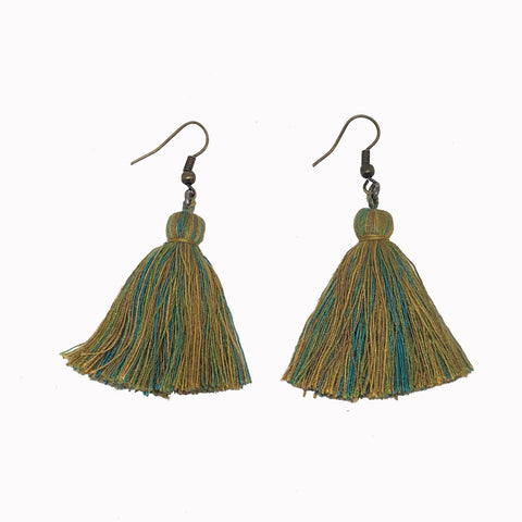 Tassel earrings, boho earrings, boho jewellery, tassel drop earrings, statement earrings