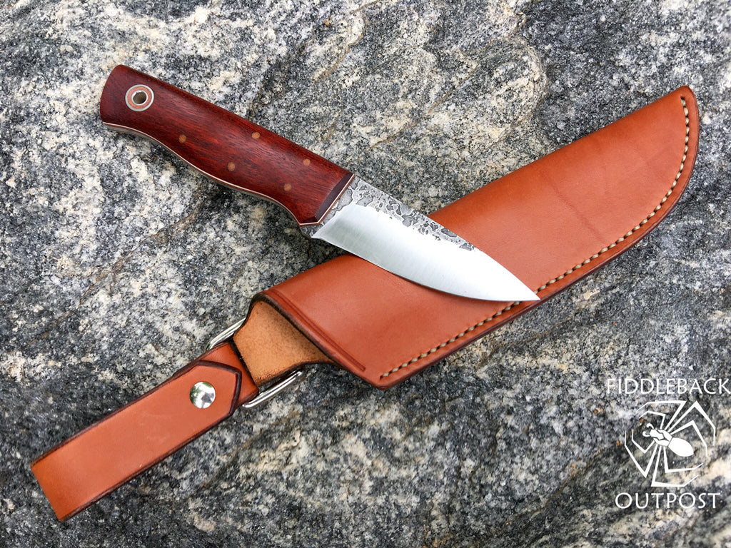 Fiddleback Forge Handmade Knife with Pouch Sheath