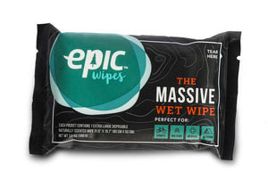 Epic Wipes - Massive Bamboo Body Wipes - Shower Substitute - 10pk - Fiddleback Outpost