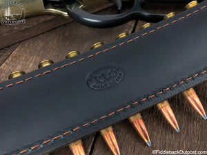 Ammo Carrier for Rifle Sling - RLO Custom Leather - Fiddleback Outpost