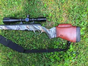 Rifle Butt Stock Cover - RLO Custom Leather - Fiddleback Outpost