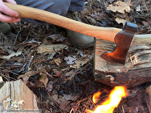 "Council Tool - 16"" Wood-Craft Camp Carver Axe - Fiddleback Outpost"