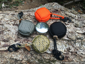 Fire Water Survival - AEGIS Paracord Wrapped Pocket Survival Kit - Fiddleback Outpost