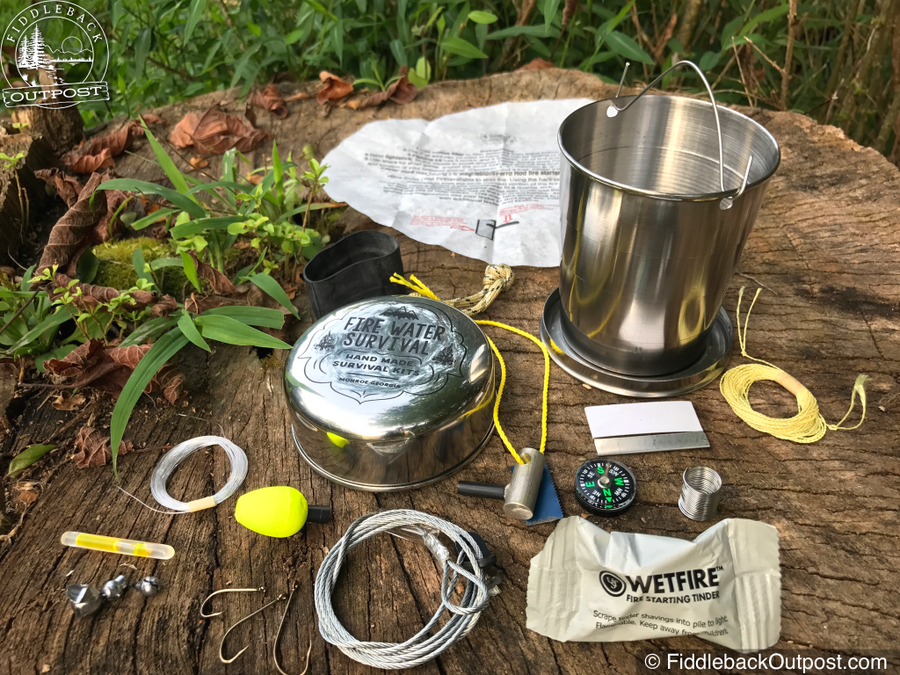 Fire Water Survival - CHIEF Deluxe Pocket Survival Kit - Fiddleback Outpost