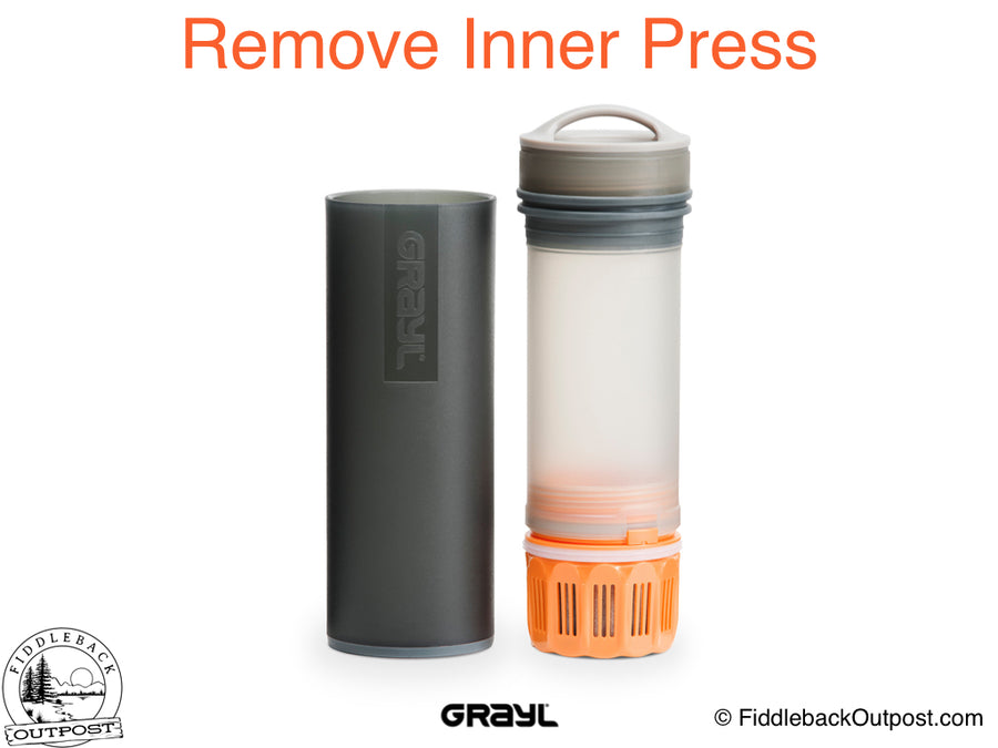 Grayl - Ultralight Water Bottle - Purifier [+Filter] - Black - Fiddleback Outpost
